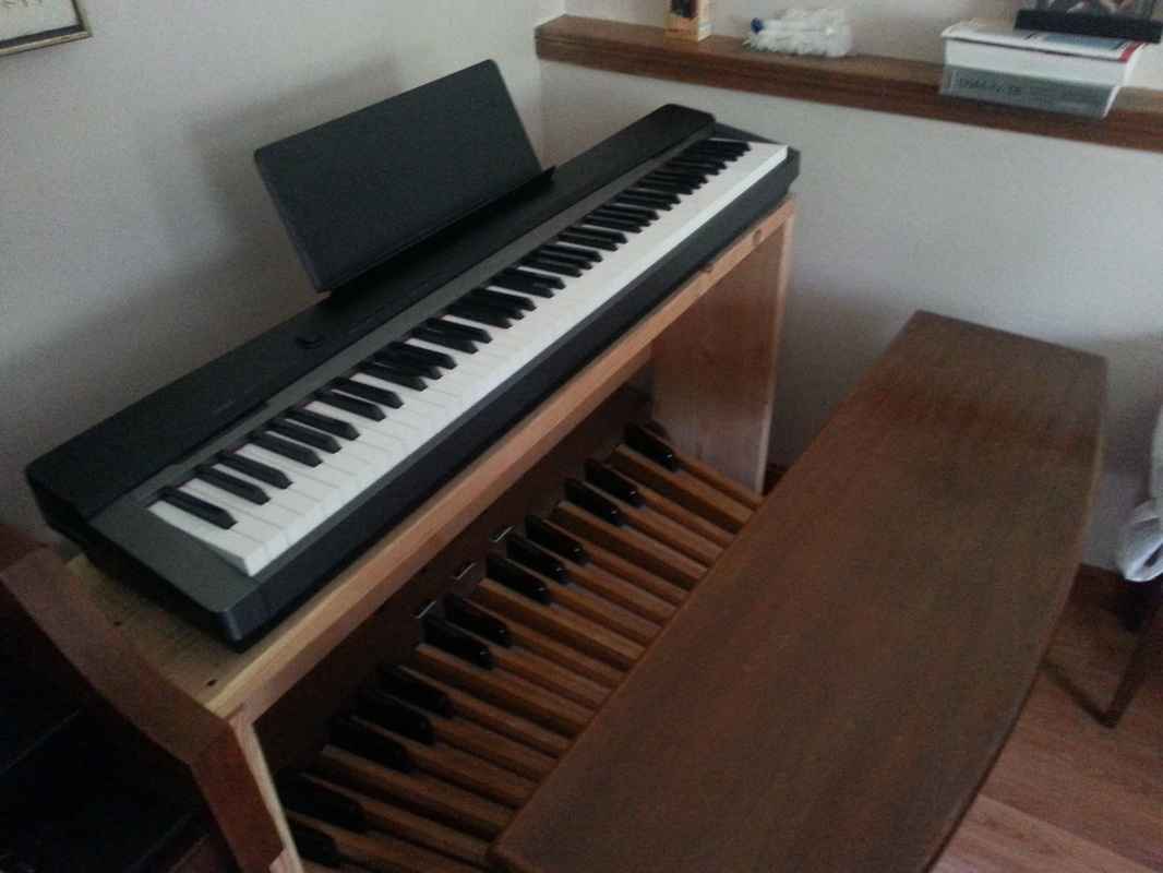 Mateusz Marcinowski Enjoyed Your Organ Home Article Here Is A Project That I Did To Have Piano And Pedals Found An Ago Pedal Board Built Stand